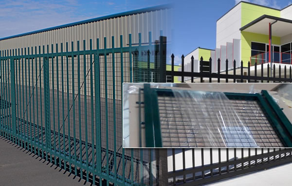 Galvanized Steel Sliding Gate For Uptown Security Fences
